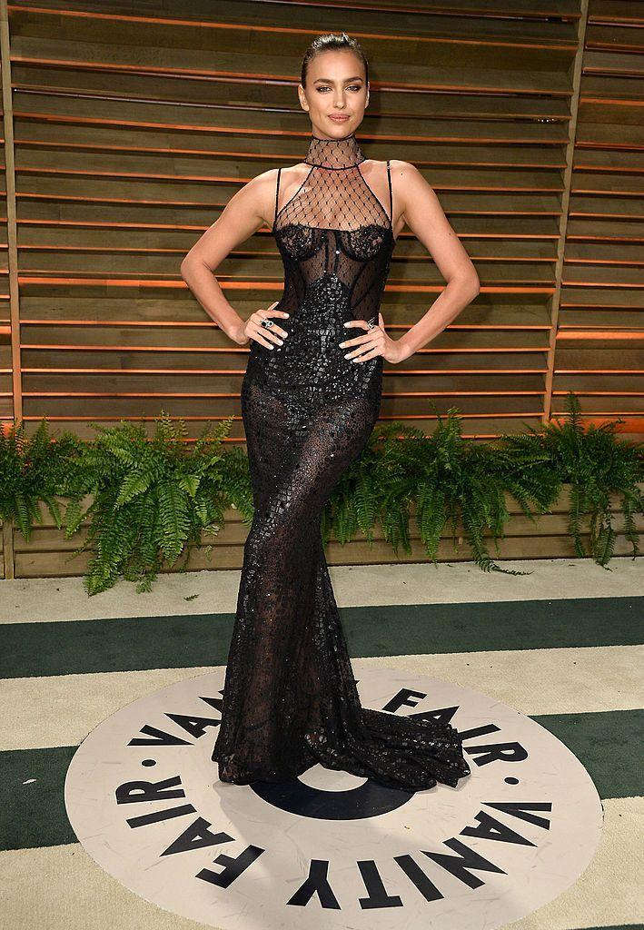 <p>Shayk wore a Versace gown to the event. </p>