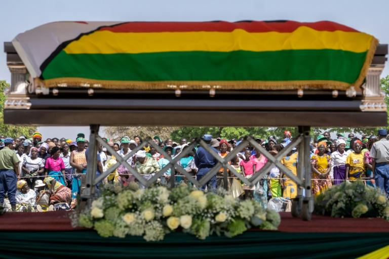 The decision to bury Zimbabwe's ex-president Robert Mugabe at his rural birth place came after weeks of wrangling between his family and the government (AFP Photo/Zinyange Auntony)