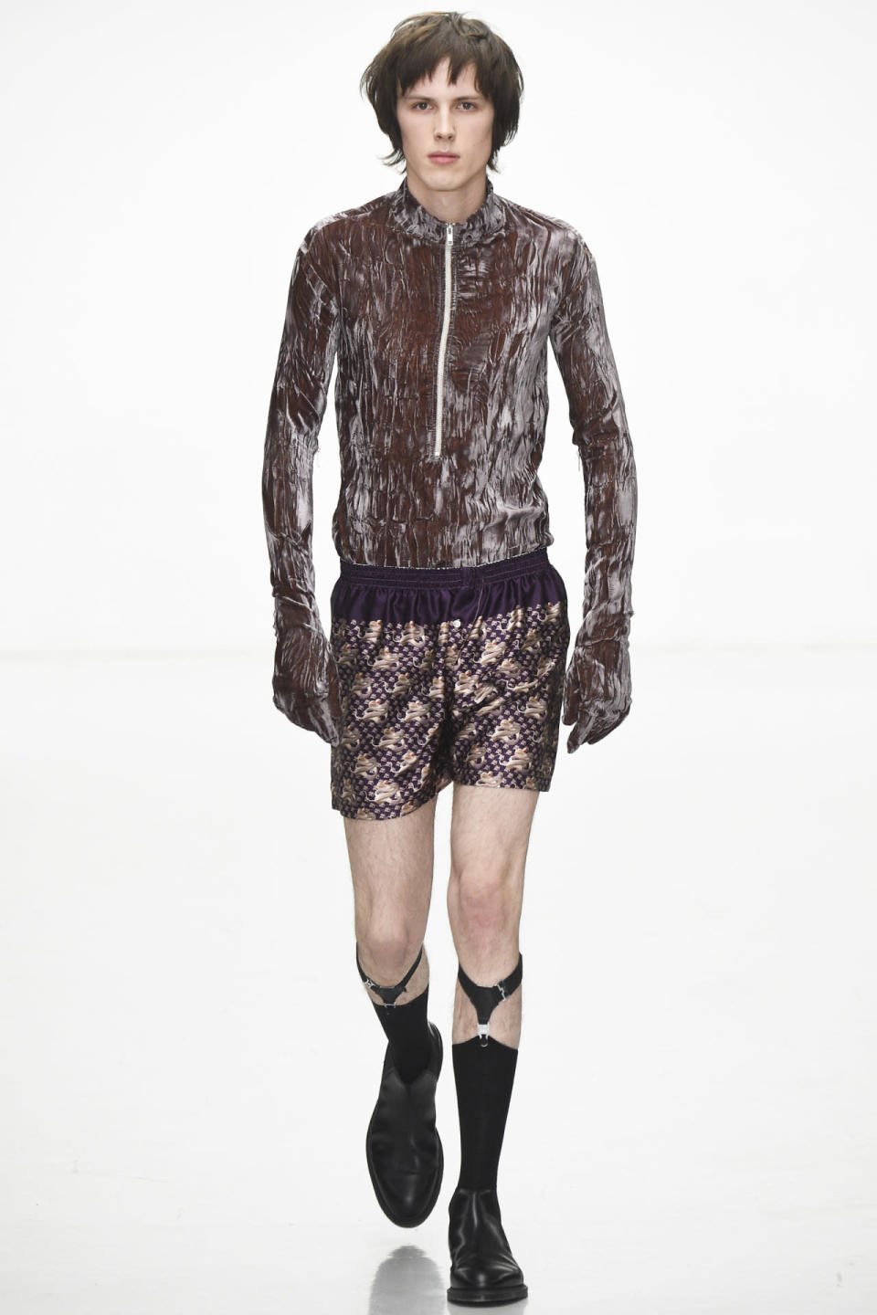 <p>A crushed velvet top with built-in hands and a silk boxers is probably not something most dudes would want to wear, but here's to hoping.<i> Photo: Getty Images</i></p>