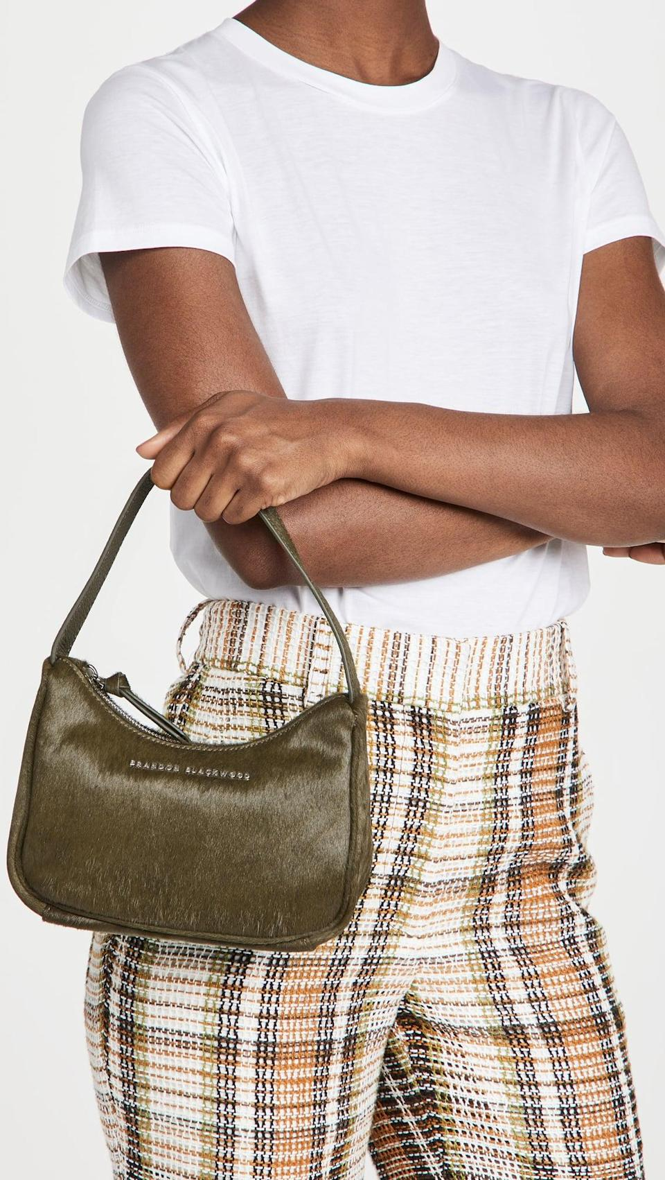 <p>This <span>Brandon Blackwood The Syl Bag</span> ($116, originally $165) looks like a classic mini bag, but with a twist. The calfhair adds something extra, and it's so cool.</p>