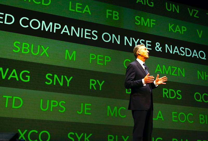 Howard Schultz, former Chairman and CEO of Starbucks, March 19, 2014. (AP Photo)