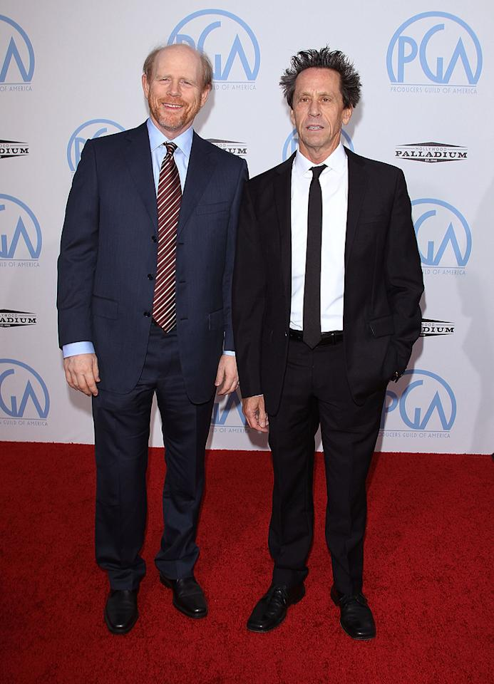 "<a href=""http://movies.yahoo.com/movie/contributor/1800017103"">Ron Howard</a> and <a href=""http://movies.yahoo.com/movie/contributor/1800018908"">Brian Grazer</a> at the 21st Annual Producers Guild Awards in Hollywood, California - 01/24/2010"