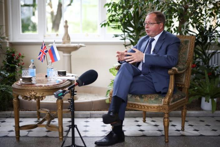 Ambassador of Russia to the United Kingdom Andrei Kelin attends an interview with Reuters in London