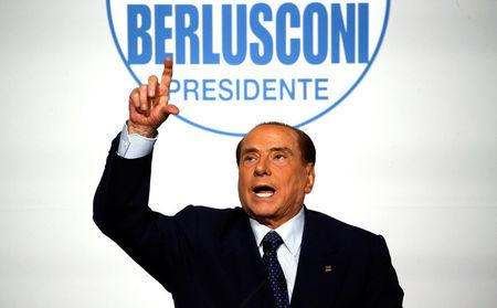 Forza Italia leader Silvio Berlusconi gestures during a meeting in Rome