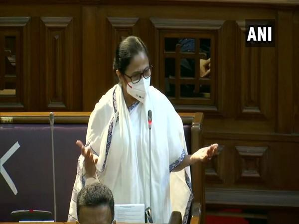 West Bengal Chief Minister Mamata Banerjee speaking at state Assembly on Saturday. (Photo/ANI)