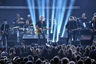 Bruce Springsteen and the E Street Band, shown here playing the Grammys in 2012, have returned with the new album 'Letter To You'