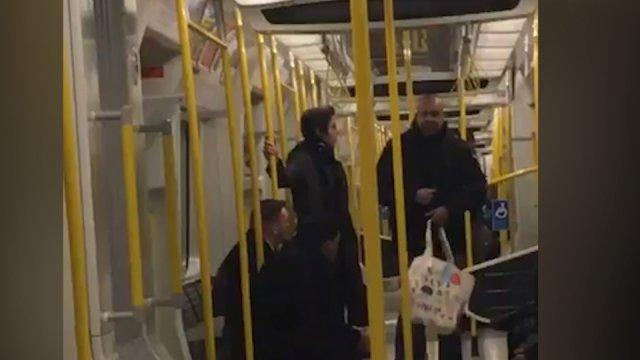 London tube racist tirade shared on Twitter