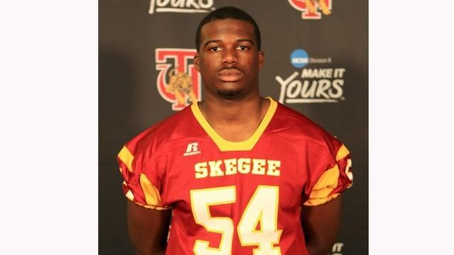 Jabari Bailey, a football player for Tuskegee University, lost his leg in a tragic accident, and now Tuskegee's on-field rival is stepping up. (Tuskegee Athletics)