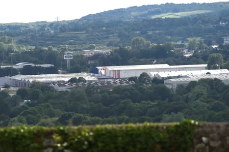 FILE PHOTO: A view of the Ford engine plant at Bridgend