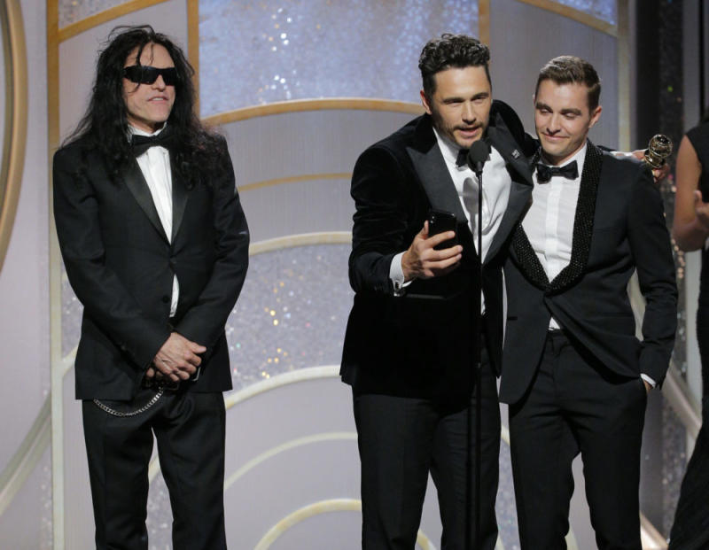 James Franco Awkwardly Snubbed Tommy Wiseau On Stage At The Golden