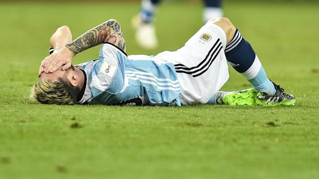 Messi will miss all but one of Argentina's remaining qualifiers for the 2018 World Cup.