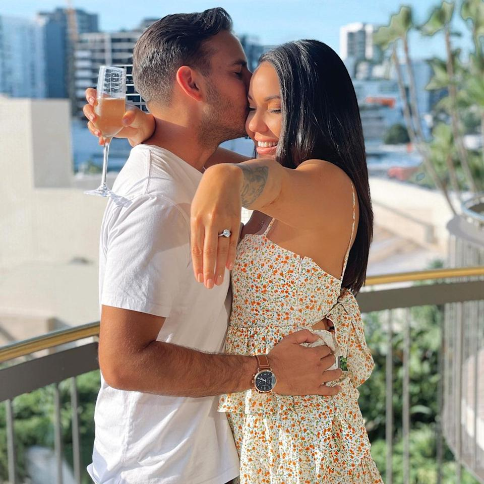 Former Married At First Sight star Davina Rankin with her fiancé, Jaxon Manuel