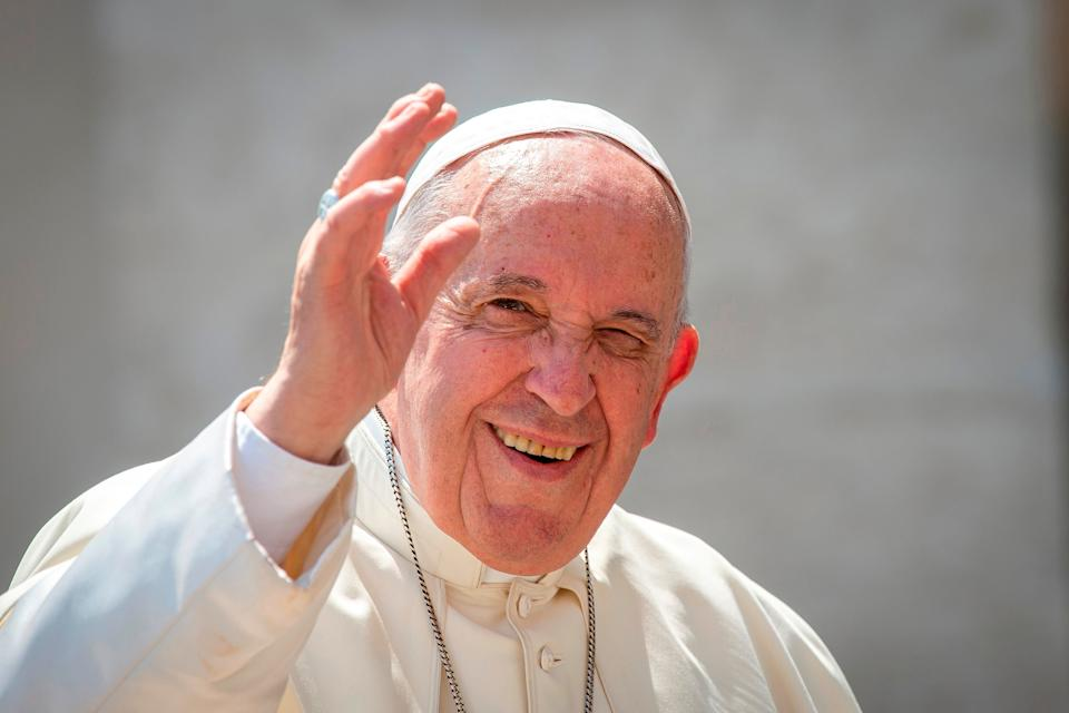 Pope Francis arrives for his weekly general audience in St. Peter's Square at the Vatican. (Photo by: Antoine Mekary/Godong/Universal Images Group via Getty Images) (Photo: Godong via Getty Images)