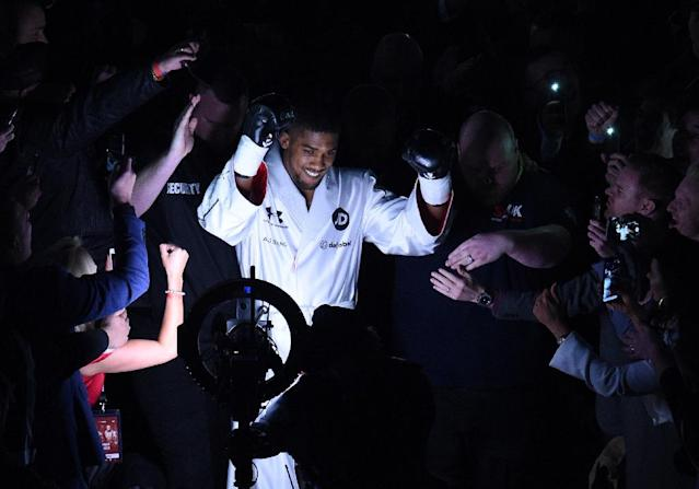 IBF and WBA world heavyweight champion Anthony Joshua of Great Britain (AFP Photo/Oli SCARFF )