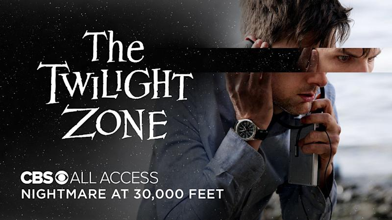 """Adam Scott in the """"Nightmare at 30,000 Feet"""" episode of """"The Twilight Zone"""" on CBS All Access."""