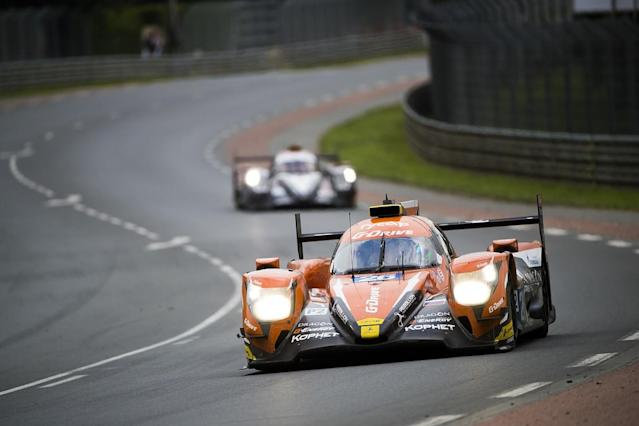 Fernando Alonso leads the Le Mans 24 Hours once again after taking over the #8 Toyota from Sebastien Buemi during the 19th hour of the race