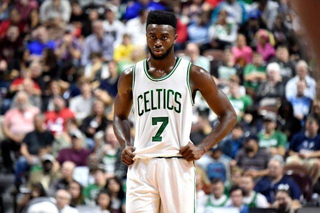 The Nets are the gift that keeps on giving the Celtics, and Jaylen Brown is the latest present. (Getty Images)