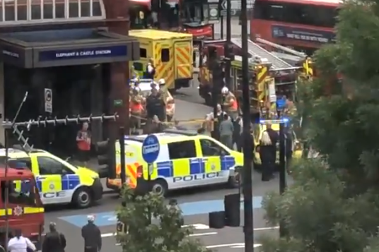 Tube attack: Emergency services rushed to the scene after a man was