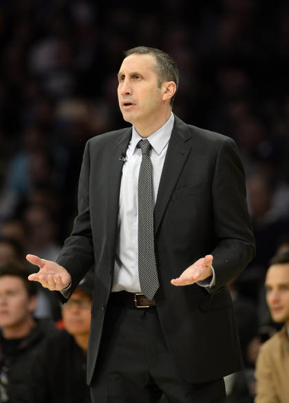 David Blatt can't believe he got left with an open frame in the 10th. (Richard Mackson-USA TODAY Sports)