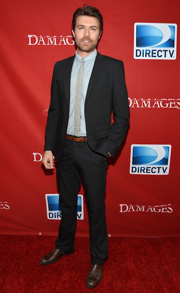"Noah Bean attends The DirecTV premiere for the fifth and final season of ""Damages"" at Paris Theater on June 28, 2012 in New York City."