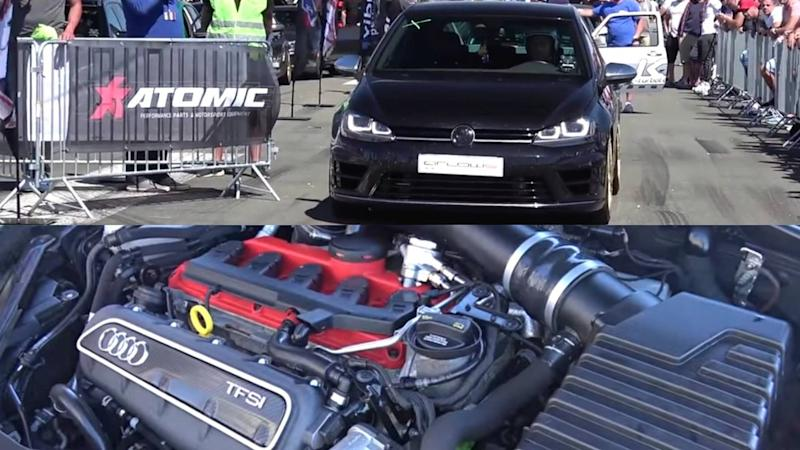 600 hp vw golf r with audi rs3 engine reminds us of the r400