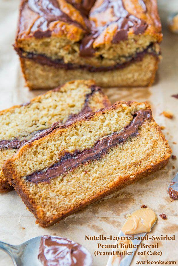 "<a href=""https://www.averiecooks.com/nutella-layered-and-swirled-peanut-butter-bread-peanut-butter-loaf-cake/"" target=""_blank"" rel=""noopener noreferrer""><strong>Get the Nutella-Layered-and-Swirled Peanut Butter Bread recipe from Averie Cooks</strong></a>"