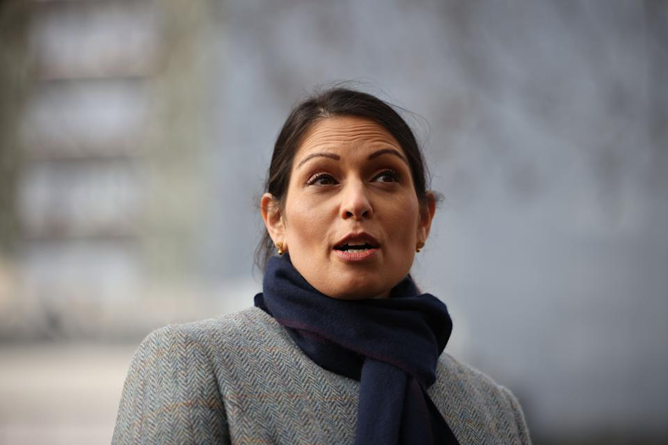 <p>First to veer off message was Priti Patel who broke ranks by publicly admitting that she had opposed the Government's decision not to bar passengers from regions hit by the virus until now.</p> (Getty Images)