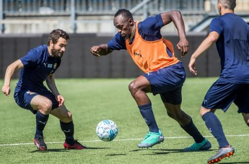 Usain Bolt said everyone at Norwegian football club Stromsgodset 'has been cool and welcoming.'