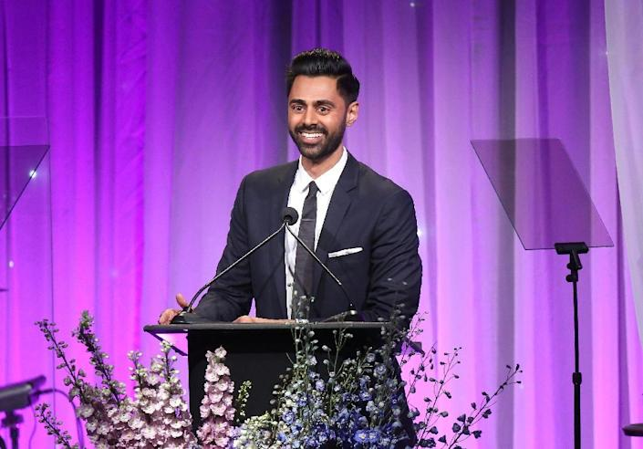 Netflix has dropped an episode of a program critical of Saudi Arabia by comedian Hasan Minhaj after officials in the kingdom complained (AFP Photo/Jesse Grant)