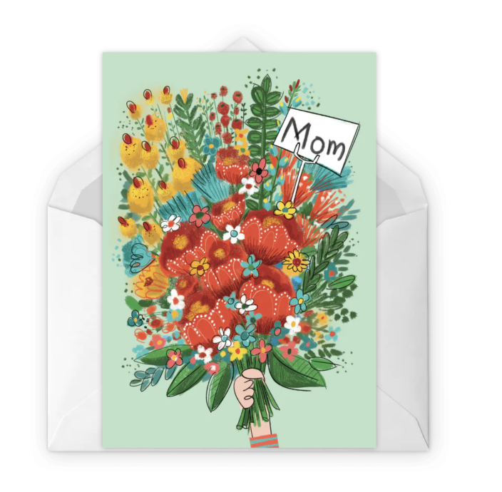 """<p>Send Mom the gift of a beautiful bouquet via this pretty card. And, hey, maybe send some real flowers with it, too — just because.</p><p><strong><em>Get the printable at <a href=""""https://www.greetingsisland.com/preview/cards/bouquet-day/91-14885"""" rel=""""nofollow noopener"""" target=""""_blank"""" data-ylk=""""slk:Greetings Island"""" class=""""link rapid-noclick-resp"""">Greetings Island</a>.</em></strong></p>"""