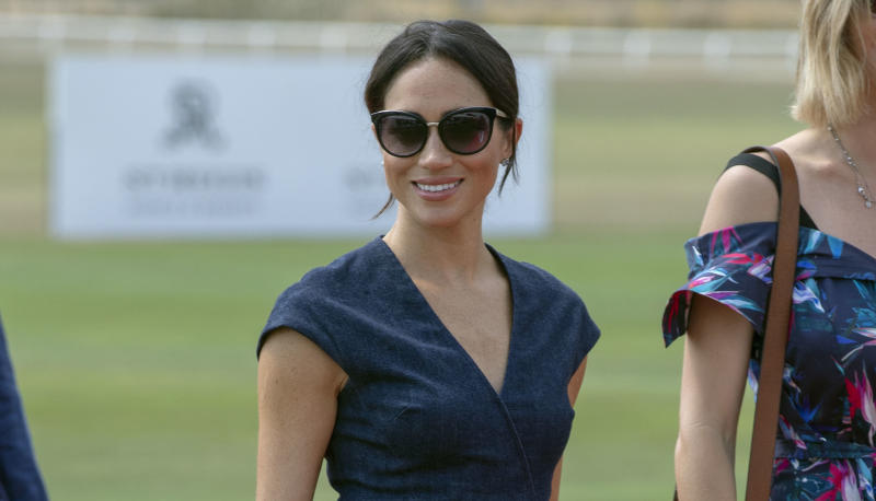 b384189961 The Duke and Duchess of Sussex arrive at the Sentebale charity polo match   Photo  PA