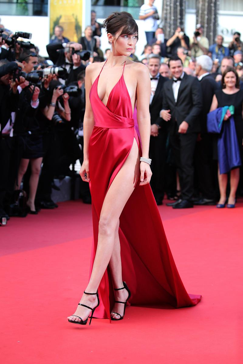 """Wearing an Alexandre Vauthier dress at""""The Unknown Girl (La Fille Inconnue)"""" premiere during the 69th annual Cannes Film Festival at the Palais des Festivals on May 18, 2016, in Cannes, France."""