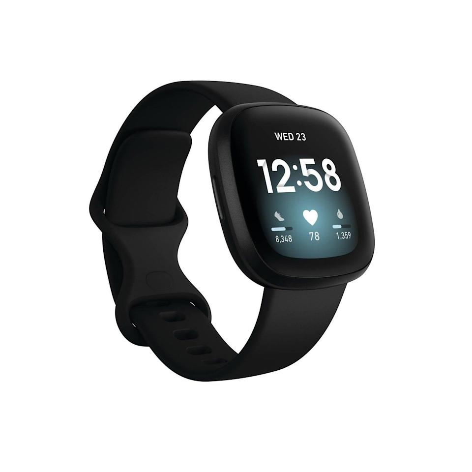 <p>The <span>Fitbit Versa 3 Smartwatch</span> ($230) is ideal for those who want to exercise without having to carry their phone around. It has built-in GPS, tracks your daily activity and sleep, and even allows you to store and play music from the tracker. It comes in a variety of colors. </p>
