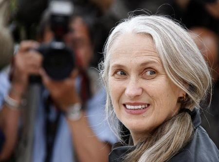 """Director Jane Campion poses during a photocall for the film """"Bright Star"""" at the 62nd Cannes Film Festival May 15, 2009. Twenty films are competing for the prestigious Palme d'Or which will be awarded on May 24. REUTERS/Jean-Paul Pelissier"""