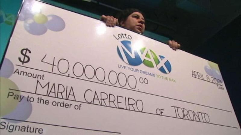 Woman wins $40M, not $40K, in Canada lottery