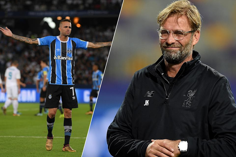 Brazil's next big thing: Luan is wanted by Liverpool manager Jurgen Klopp, right