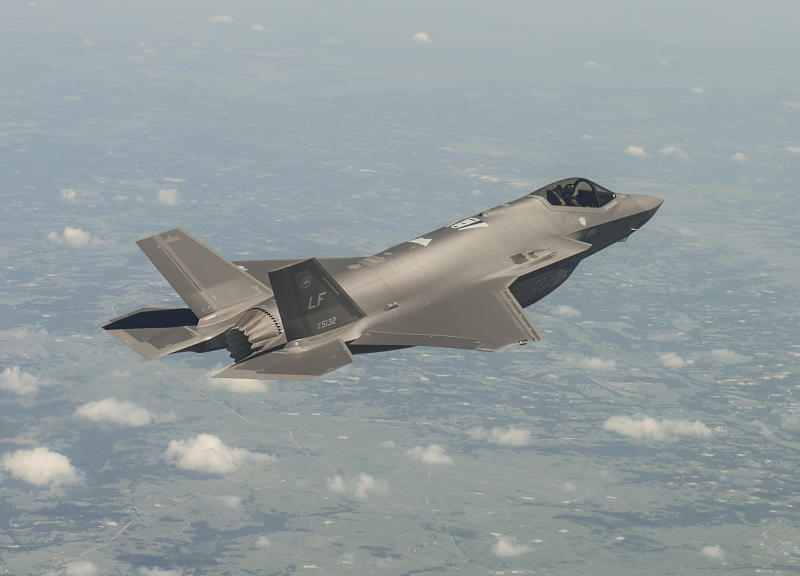 Lockheed Martin F-35 in flight.