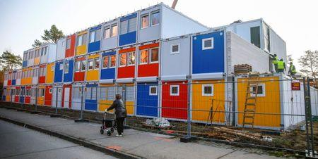 FILE PHOTO - Refugee centre under construction in Berlin