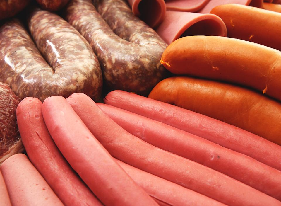Processed meats sausage hot dog red meat deli meat