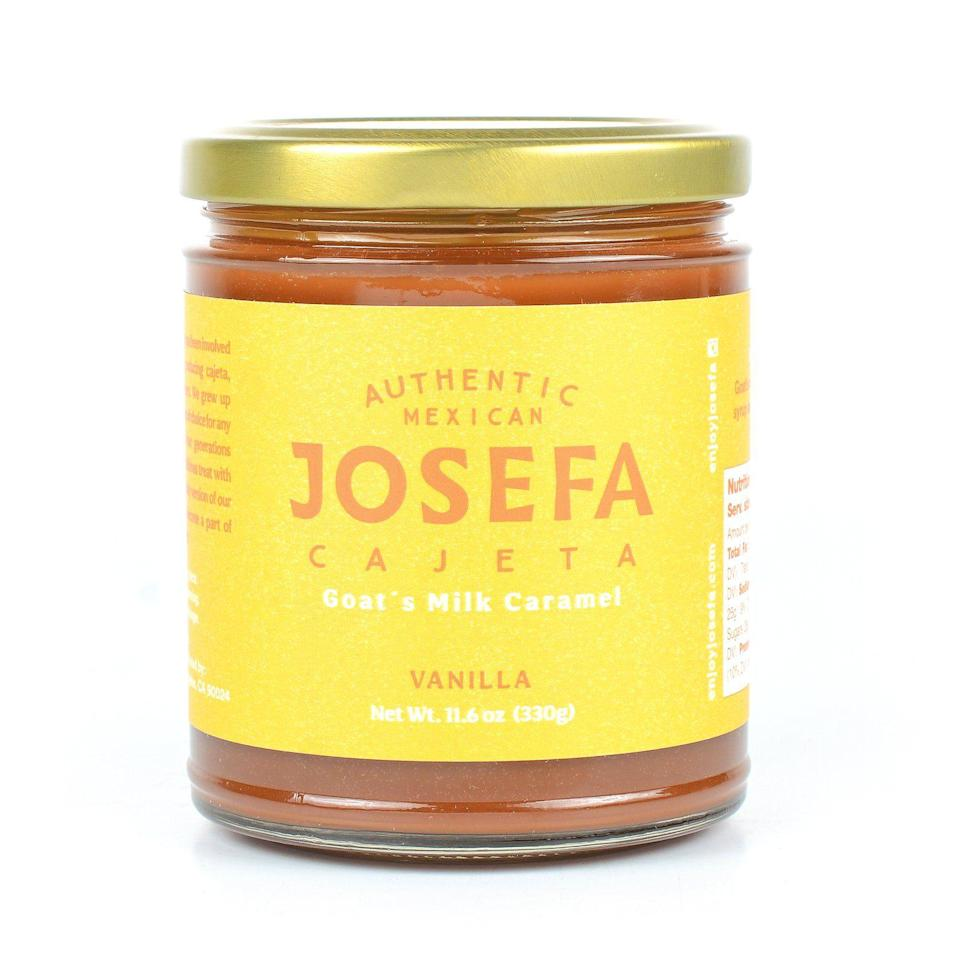 """<p><strong>Josefa</strong></p><p>enjoyjosefa.com</p><p><strong>$12.99</strong></p><p><a href=""""https://enjoyjosefa.com/collections/all/products/vanillacajeta-josefa-authentic-mexican-cajeta"""" rel=""""nofollow noopener"""" target=""""_blank"""" data-ylk=""""slk:BUY NOW"""" class=""""link rapid-noclick-resp"""">BUY NOW</a></p><p>Cajeta is a beloved Mexican caramel that is made of goat's milk, cane sugar and syrup. When <a href=""""https://enjoyjosefa.com/pages/about-josefa-authentic-mexican-cajeta"""" rel=""""nofollow noopener"""" target=""""_blank"""" data-ylk=""""slk:Sofia, founder of Josefa"""" class=""""link rapid-noclick-resp"""">Sofia, founder of Josefa</a>, moved to California in 2017, she wanted to share and celebrate her heritage with those around her by recreating something that brought her so much joy in her childhood – cajeta! Choose from a variety of flavors including <a href=""""https://enjoyjosefa.com/collections/all"""" rel=""""nofollow noopener"""" target=""""_blank"""" data-ylk=""""slk:original, vanilla and coffee"""" class=""""link rapid-noclick-resp"""">original, vanilla and coffee</a>.</p>"""