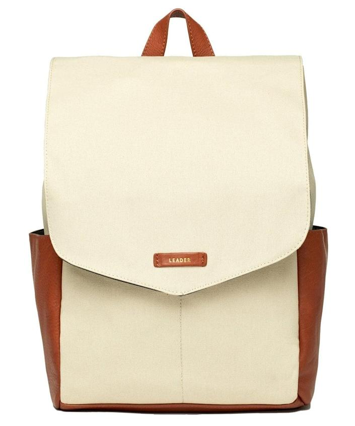 <p>The <span>Leader Julien Leather Backpack</span> ($113, originally $225) is a popular one among parents. It looks sleek to the untrained eye, but it actually has tons of pockets: six interior compartments and four on the outside.</p>