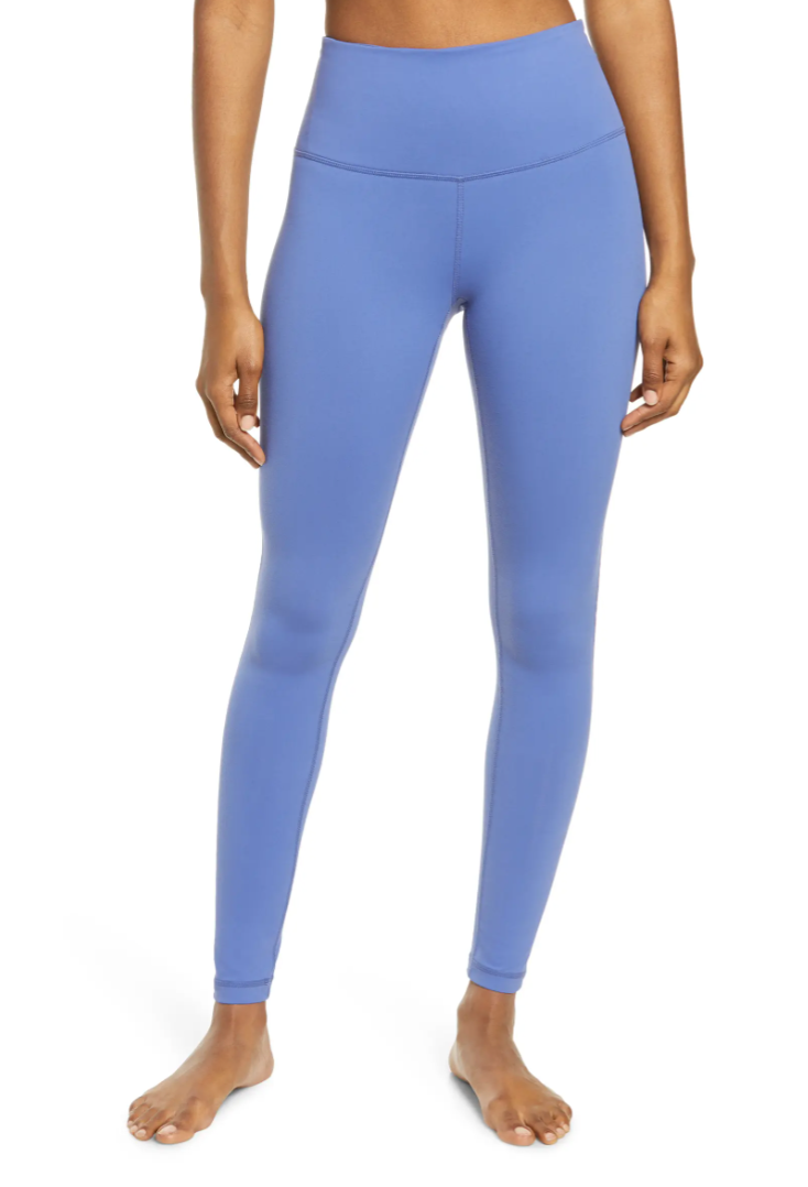 Zella 'Live In' High Waist Leggings in Blue Marlin (Photo via Nordstrom)