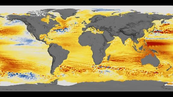 Sea-level data since 1994, taken by the TOPEX and JASON missions, reveal complex changes in sea level that vary across the globe — but the overall trend is a strong increase.