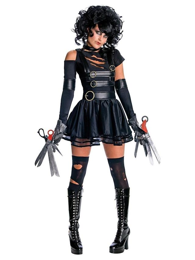 This <span>Sexy Edward Scissorhands</span> get-up sends mixed messages. It definitely has a certain goth girl appeal, but those scissors on the costume look sharp and might scare people away. Of course, that might be a good thing.