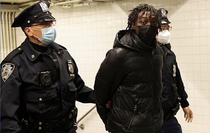 <p>Saadiq Teague, 18, was charged with several counts after he pulled out an AK-47 on the platform at New York's Time Square subway station on Friday</p> (Reuters)