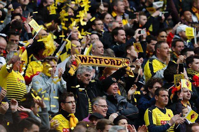 Watford were the only top-flight outfit to perish in League Cup play (AFP Photo/ADRIAN DENNIS)
