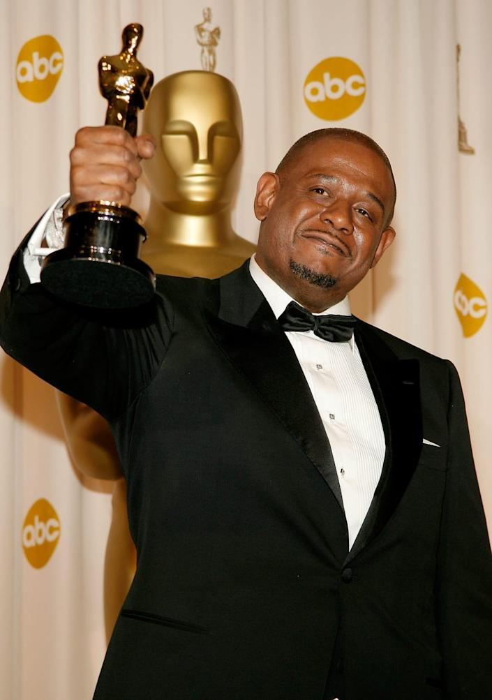 """<div class=""""inline-image__caption""""><p>Forest Whitaker poses after winning the Best Actor Oscar during the 79th Annual Academy Awards at the Kodak Theatre on February 25, 2007, in Hollywood, California. </p></div> <div class=""""inline-image__credit"""">Vince Bucci/Getty</div>"""