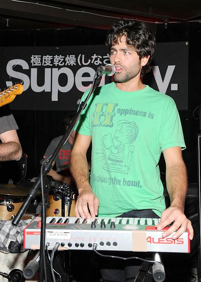 """Entourage"" star Adrian Grenier hit the stage with his band The Honey Brothers at the Superdry Experience at Danny Masterson's Downstairs Bar. Jamie McCarthy/<a href=""http://www.gettyimages.com/"" target=""new"">GettyImages.com</a> - January 23, 2011"