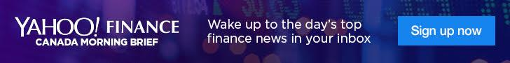 Yahoo Finance Canada morning newsletter