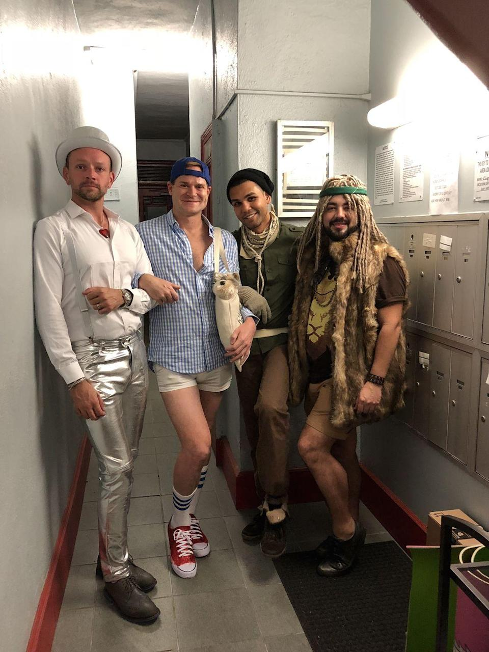 """<p>Think outside of the Yellow Brick Road this Halloween with a creative twist on the classic costume. No need to buy a Dorothy dress or coat yourself in silver paint. Take some creative liberties with your costume using things you already own.</p><p><a class=""""link rapid-noclick-resp"""" href=""""https://www.amazon.com/Converse-Unisex-Chuck-Taylor-Sneakers/dp/B0000AFT0C/?tag=syn-yahoo-20&ascsubtag=%5Bartid%7C10072.g.27868790%5Bsrc%7Cyahoo-us"""" rel=""""nofollow noopener"""" target=""""_blank"""" data-ylk=""""slk:Shop Red Converse"""">Shop Red Converse</a></p><p><a class=""""link rapid-noclick-resp"""" href=""""https://www.amazon.com/Rebecca-Metallic-Holographic-Sweatpant-Tapered/dp/B07Y2MRZZL/?tag=syn-yahoo-20&ascsubtag=%5Bartid%7C10072.g.27868790%5Bsrc%7Cyahoo-us"""" rel=""""nofollow noopener"""" target=""""_blank"""" data-ylk=""""slk:Shop Shiny Metallic Pants"""">Shop Shiny Metallic Pants</a></p>"""